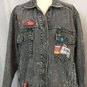 Vintage Sergio Valente L Jacket Black Denim
